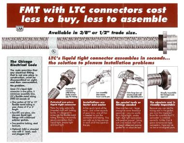 FMT Plenum Whips with Liquid Tight Connectors